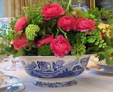 Оформление столовой цветами