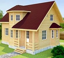 Крыша и фасад контрастные цвета