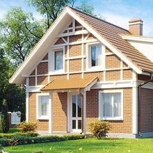 Крыша и фасад одинаковые оттенки