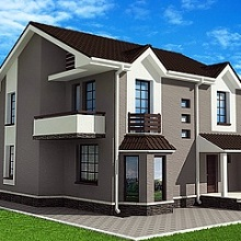 Трехцветный дом