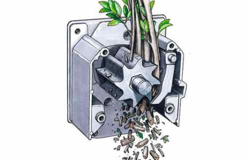 Фрезерный механизм измельчителя