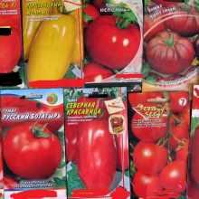 Семена томатов в упаковке