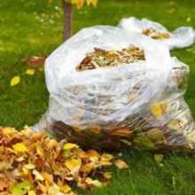 Листья в мешках для перекопки под картофель